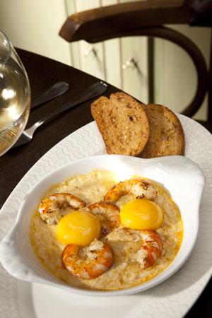 Le Baligan, plat de langoustines fraîches
