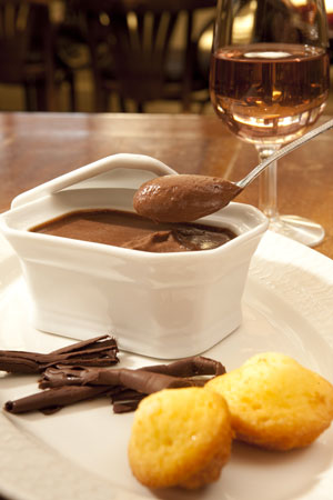 Le Baligan, Menu du midi : Mousse au chocolat