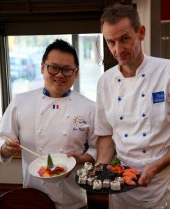 Eric TICANA et notre chef cuisinier