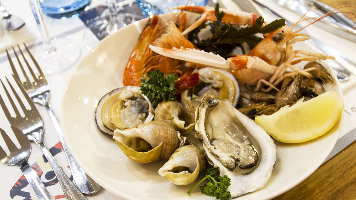 Exemple d'assiette de fruits de mer