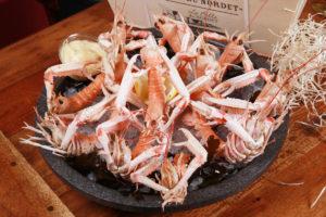 plateau de fruits de mer à emporter, langoustine