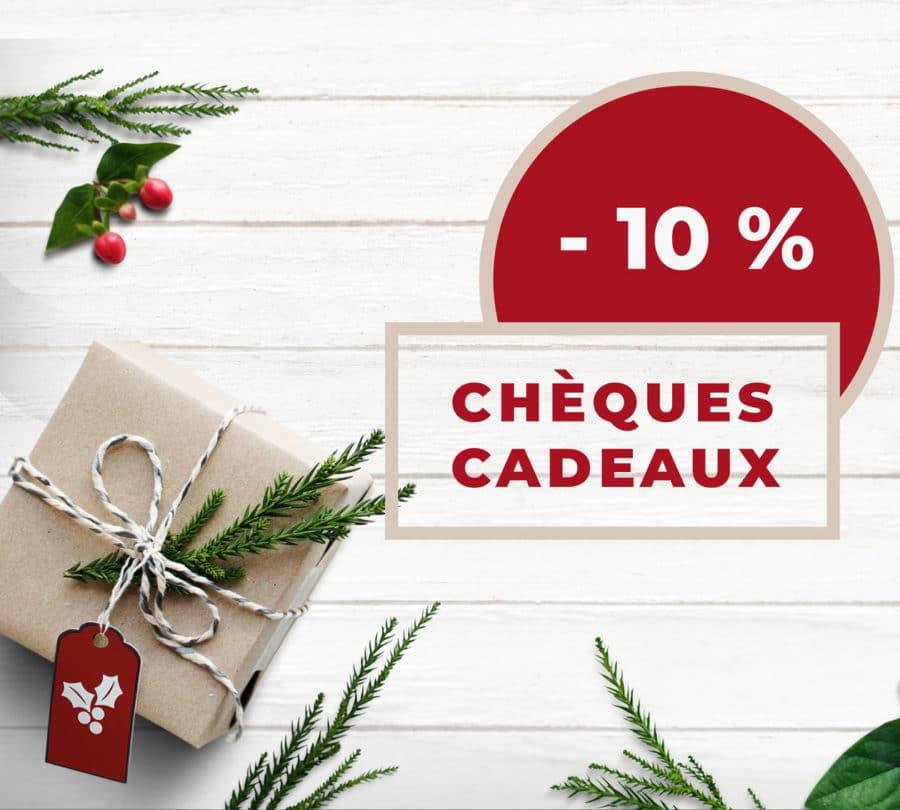 -10% sur vos chèques cadeaux jusqu'au 9 Décembre !