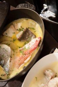 Menu du midi aux poissons: Bonieu pêcheur