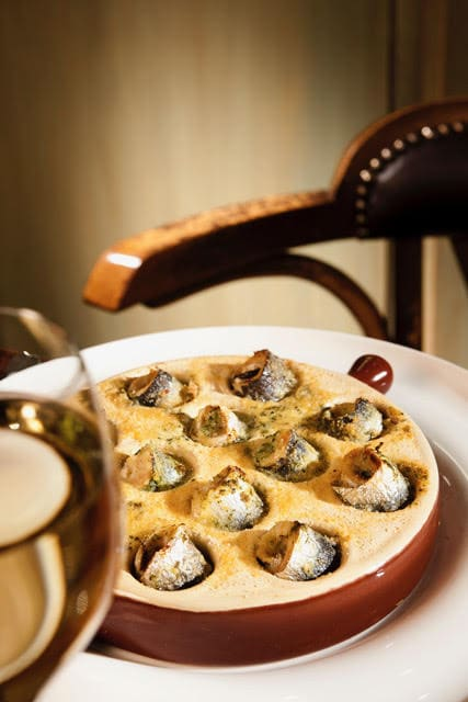 Le Baligan, plat à l'escargots