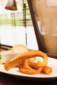 Le Baligan, Menu du midi : friture d'éperlan
