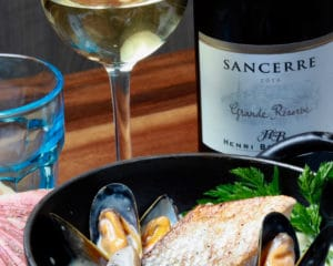 Vin et produits de la mer