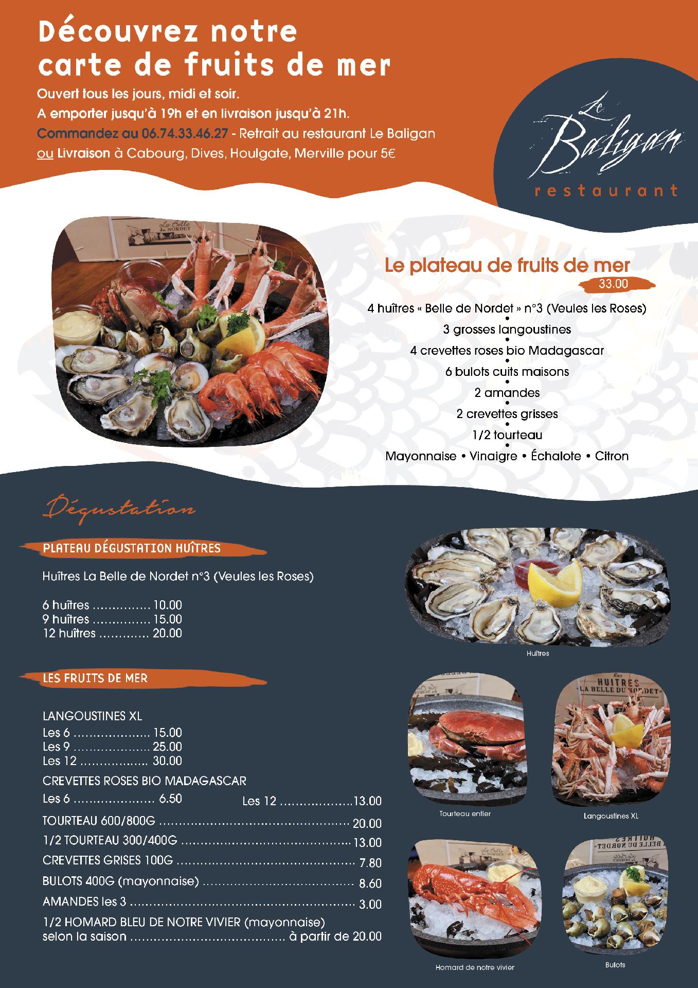 web LE BALIGAN affiche a emporter 03 11 fruits de mer